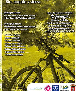 """""""Guadarrama en Bici. Río, pueblo sierra"""" tres rutas circulares por el entorno natural"""