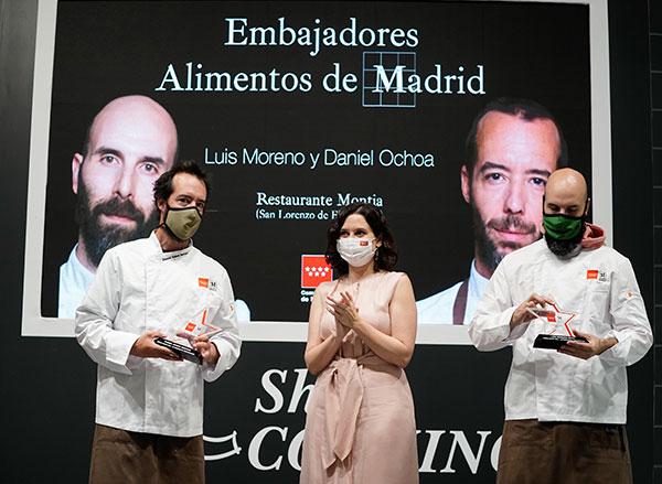 Los chefs Daniel Ochoa y Luis Moreno serán los embajadores de Alimentos de Madrid