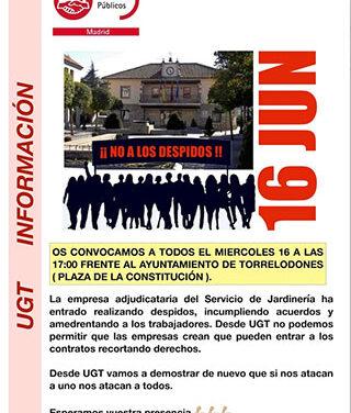 UGT convoca una concentración por la contrata de zonas verdes en Torrelodones