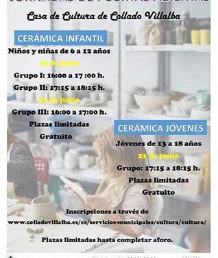 Jornada de puertas abiertas en los cursos de cerámica de Collado Villalba