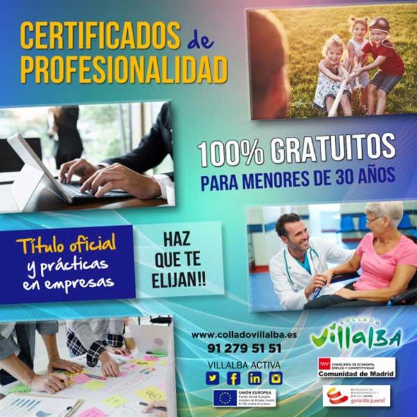 Plazas libres en el Certificado de profesionalidad de atención sociosanitaria en Collado Villalba