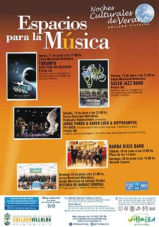 Espacios para música Collado Villalba