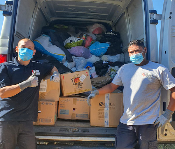 Guadarrama recicló más de 20 toneladas de ropa en seis meses