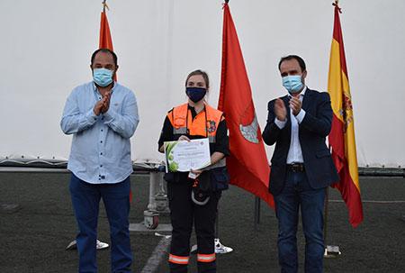 Guadarrama homenaje voluntarios protección civil