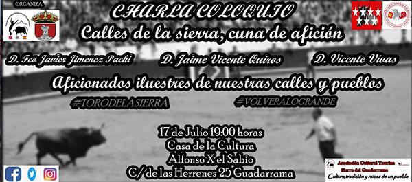 La afición de la sierra de Guadarrama, nueva tertulia de la Asociación cultural taurina