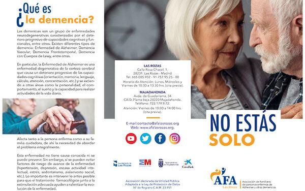 AFA Las Rozas, un apoyo para enfermos de Alzheimer en el noroeste de Madrid
