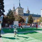 El parque de La Bolera de San Lorenzo, un espacio deportivo para practicar el minitenis