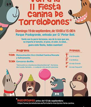 Torrelodones acoge la Feria canina con la unidad de rescate y salvamento, como plato fuerte