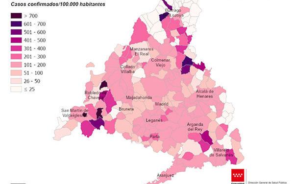 Las Rozas, Majadahonda, Torrelodones y Alpedrete tienen una tasa Covid inferior a 100 casos