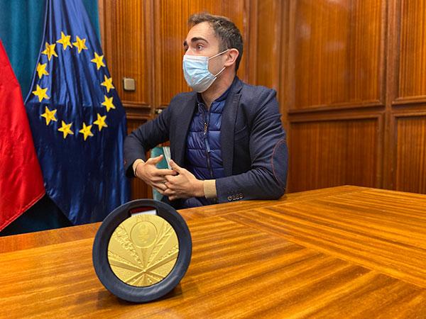 El atleta sanlorentino Guillermo Rojo, medalla de oro en los Juegos Paralímpicos de Tokio