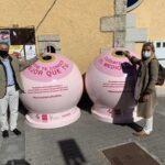 Collado Villalba recicla vidrio contra el cáncer de mama
